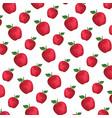 apple fresh fruit pattern background vector image