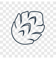 artichoke concept linear icon isolated on vector image