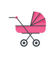 baby stroller icon flat style vector image