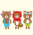 bear cute stlye vector image vector image