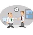 boss employee paycheck vector image vector image