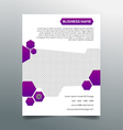 Business flyer template - creative purple design vector image vector image