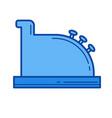 cash register line icon vector image vector image
