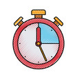 colored crayon silhouette of stopwatch icon vector image vector image