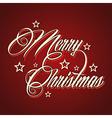 Creative Merry Christmas greeting vector image