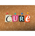 Cure Concept vector image vector image