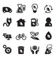 ecology save world icons set vector image vector image