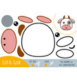 education paper game for children cow vector image vector image