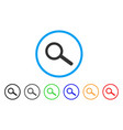 find tool rounded icon vector image vector image