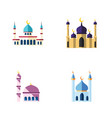 flat icon mosque set of building mosque islam vector image vector image