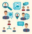 flat icons of business people showing presentation vector image vector image