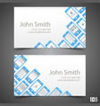 flat phone screen calling card vector image vector image
