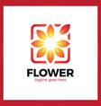 flower frame logo vector image vector image