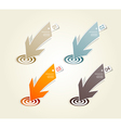 Four colored paper arrows with place for your own vector image