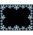 Gem Flowers Frame vector image vector image