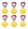 Golden Medals vector image vector image