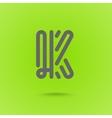 Graphic Line Font Logo Element Letter K vector image