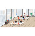 group office workers at working place vector image