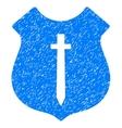Guard Shield Grainy Texture Icon vector image vector image