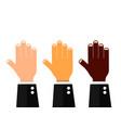 hands set multicultural vector image