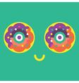 Happy-Donut-Icon-Colorful vector image