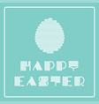 happy easter card with striped stylish font and vector image vector image