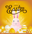happy easter typography cartoon charactor vector image vector image
