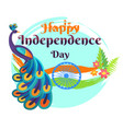 happy independence day template poster vector image vector image