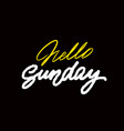 happy sunday handwriting ink black on whit vector image vector image