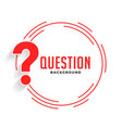 help and support question mark background in red vector image vector image