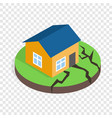 house after an earthquake isometric icon vector image vector image
