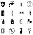hygiene icon set vector image