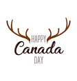 isolated moose horns canada day vector image