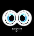 looking eyes through binoculars review cartoon vector image