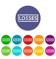 Losses flat icon vector image vector image