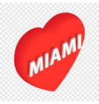 love miami isometric icon vector image