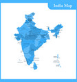 map of india and sri lanka vector image vector image