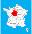 map state centre center on france fr vector image vector image