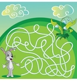 Maze Labyrinth Game for Children with hare vector image vector image