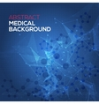 Medical abstract background Abstract polygonal vector image vector image