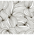 monochrome background Hand drawn wavy vector image