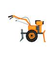 motocultivator agriculture machine garden tiller vector image vector image