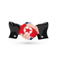 north korea handshake vector image vector image