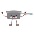 pan with handle colorful cartoon silhouette vector image