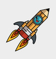 rocket launcher character isolated icon vector image vector image