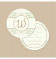 round vintage card vector image vector image