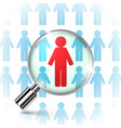 searching job with a magnifying glass vector image