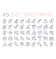 set line icons investment vector image