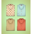 set of a colored shirts vector image vector image