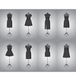 Set of woman little black dresses vector image vector image